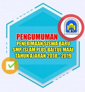 PENGUMUMAN PPDB SMPIP BM TA 2018-2019