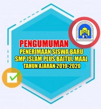 PENGUMUMAN PPDB SMPIP BM TA 2019-2020